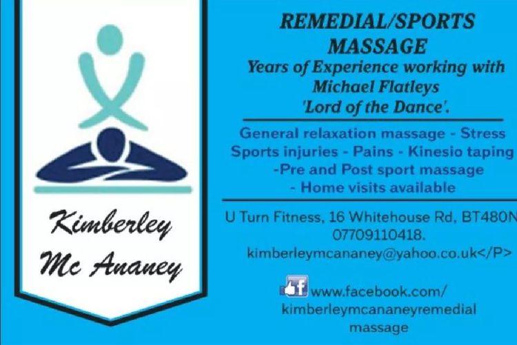 Kimberley Mc Ananey Sports/remedial Massage