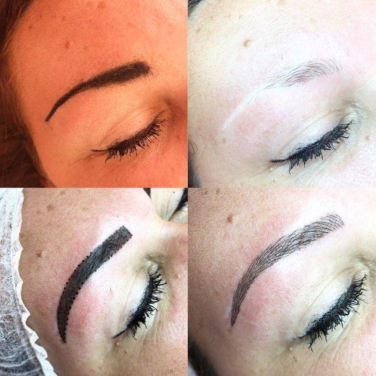 Digital machine eyebrows