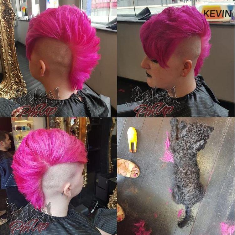 Shocking pink mo-hawk