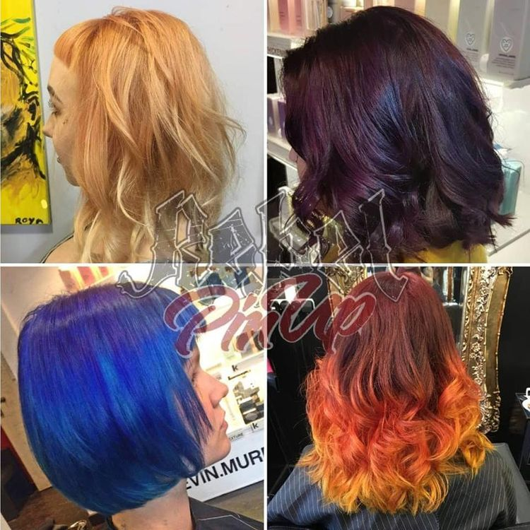A snap shot at some of the creative colours we have achieved on clients