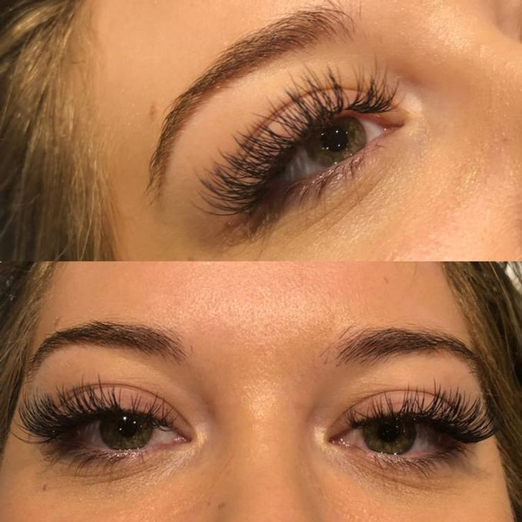 Wispy set of lash extensions