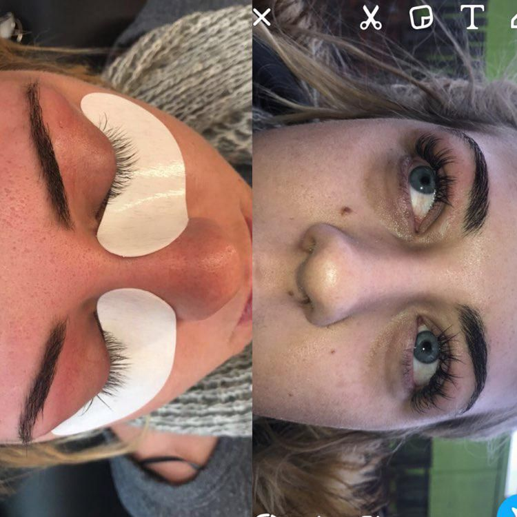 Lashes and brows done by chavonne at bb's buttershaw